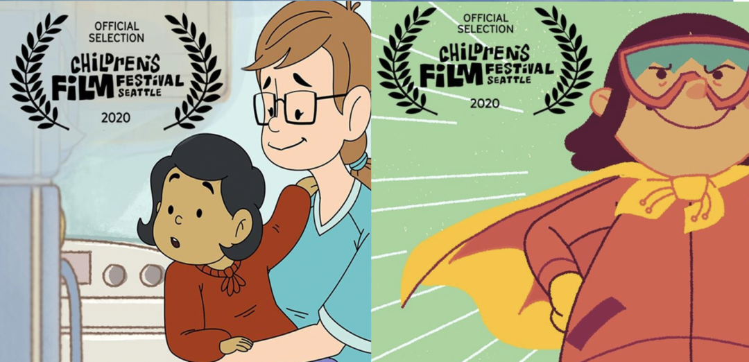 Scenes from What's My Superpower and How Nivi Got Her Names with the Seattle Children's Film Festival laurel